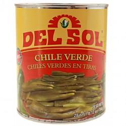 Grüne Chilies in Streifen 794g